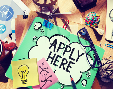 51978875 - apply here opportunity hire employment concept